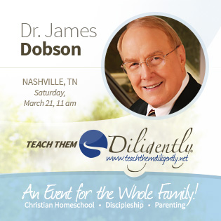 Dr. James Dobson to speak in Nashville, TN March 19-21, 2015.