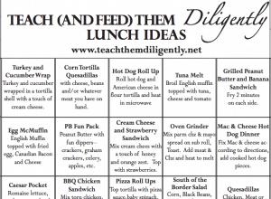 TTD Meal Ideas