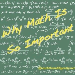 Math is so important Homeschool Convention