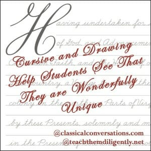 Classical Conversations Cursive Writing Homeschool Convention