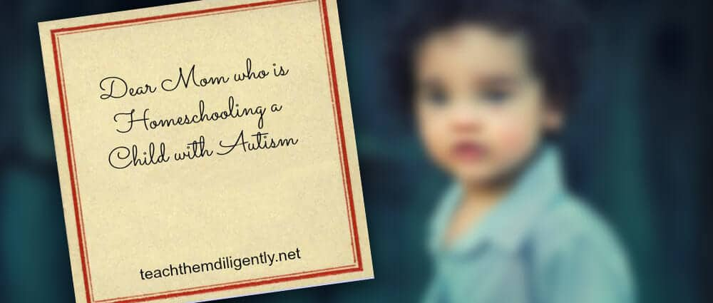 Dear mom who is homeschooling a child with autism