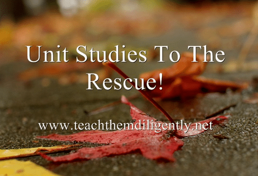 Unit Studies To The Rescue