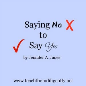 Saying No to say yes