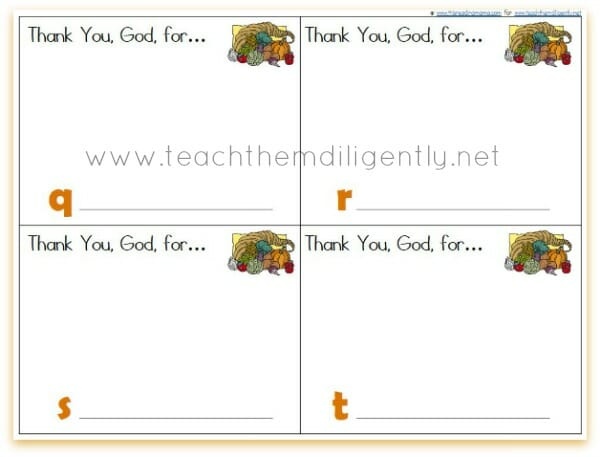 Printable Abc Thanksgiving Cards For Kids Free Teach