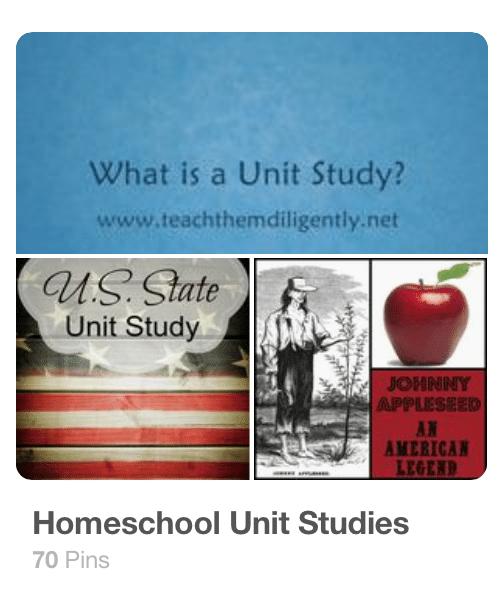 Homeschool Unit Studies Pinterest