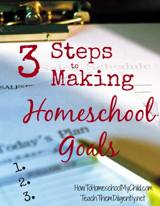 03steps to making homeschool goals from TeachThemDiligently.net/blog/