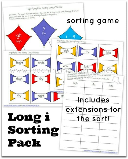 Long Vowel Word Sort for Long i {Springtime Theme} | Teach Them Diligently