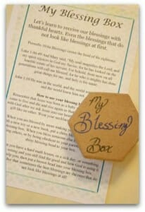 blessing box and instruction card