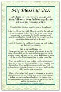 blessing box printable instruction sheet