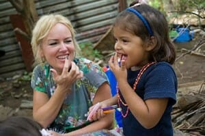 Compassion International Lady and Child