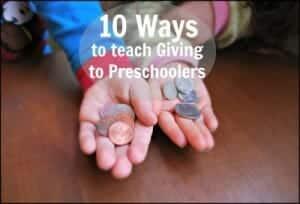Teaching giving to preschoolers