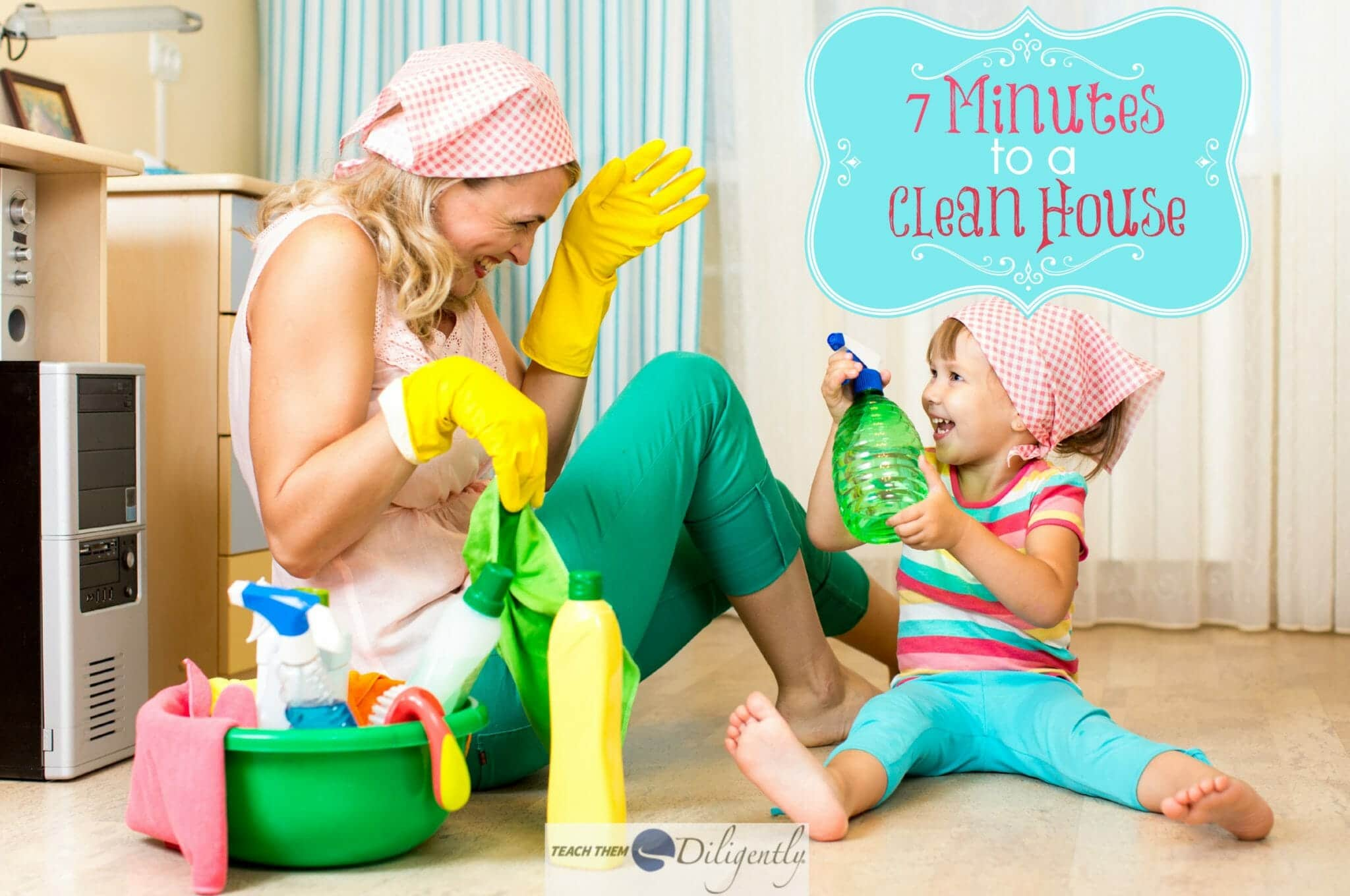 7 minute race to clean house for House cleaning stock photos