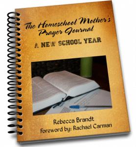Homeschool Mothers Prayer Journal New School Year