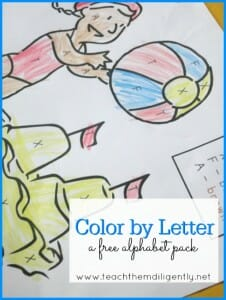 Color By Letter- A Free Alphabet Printable