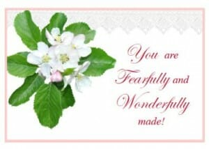 Notecards Fearfully made printable