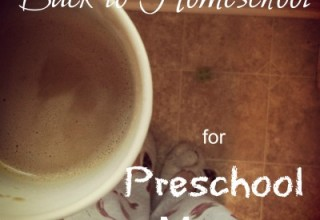 Back to Homeschool for Preschool Moms