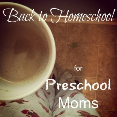 homeschool preschool encouragement