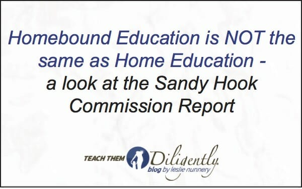 Homebound Education is NOT the same as Home Education