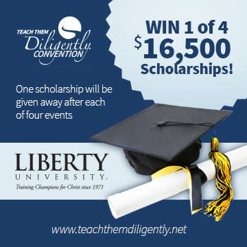 Liberty University To Award FOUR $16,500 Scholarships To Teach Them Diligently Families