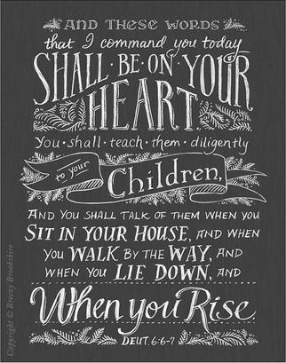Teach Them Diligently Print by Breezy Brookshire of Breezy Tulip Studios
