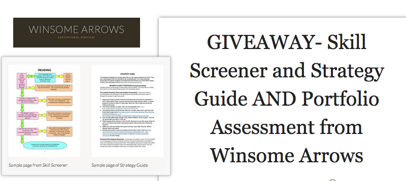 Giveaway From Winsome Arrows Educational Services