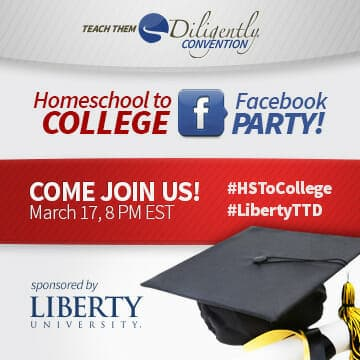 Homeschool To College/TTDNashville Facebook Party With Liberty University