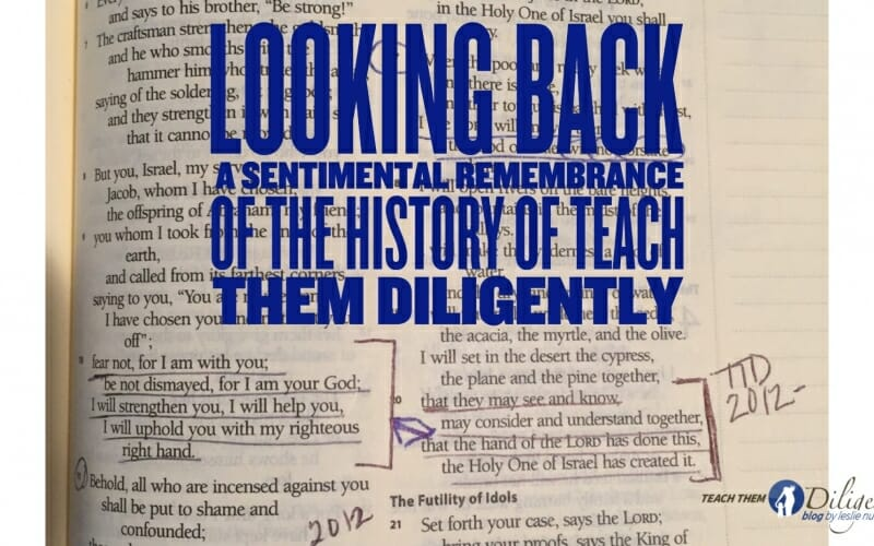 Looking Back– Teach Them Diligently Beginnings