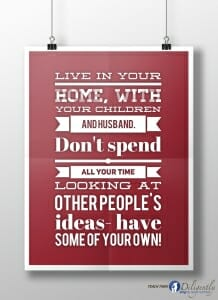Live in your home..