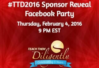 Sponsor Reveal Facebook Party Coming Up Soon! (Plus, A Giveaway!)