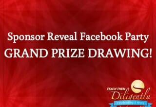 Sponsor Reveal Facebook Party Door Prizes and GRAND PRIZE DRAWING