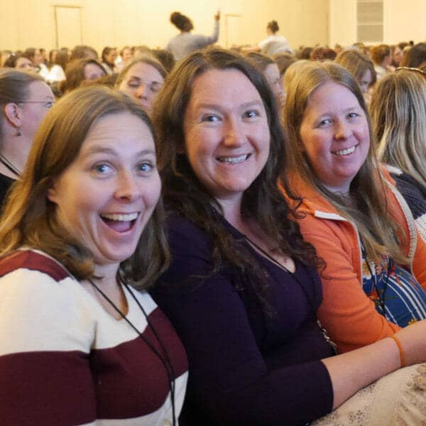 3 Homeschool Moms at the Teach Them Diligently Convention
