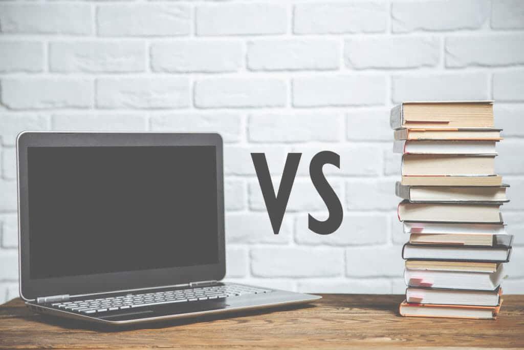 Laptop vs books