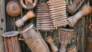 Drums and wooden instruments